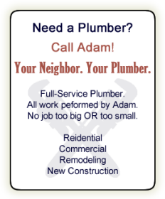 Wheaton Plumber | Trusted & Favorite | Adam Grout Plumbing | Chicago Western Suburbs of Wheaton, Glen Ellyn, Winfield, Warrenville, West Chicago, Naperville